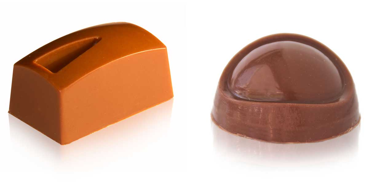 Apple & Calvados Caramel - Different shapes affect the flavour