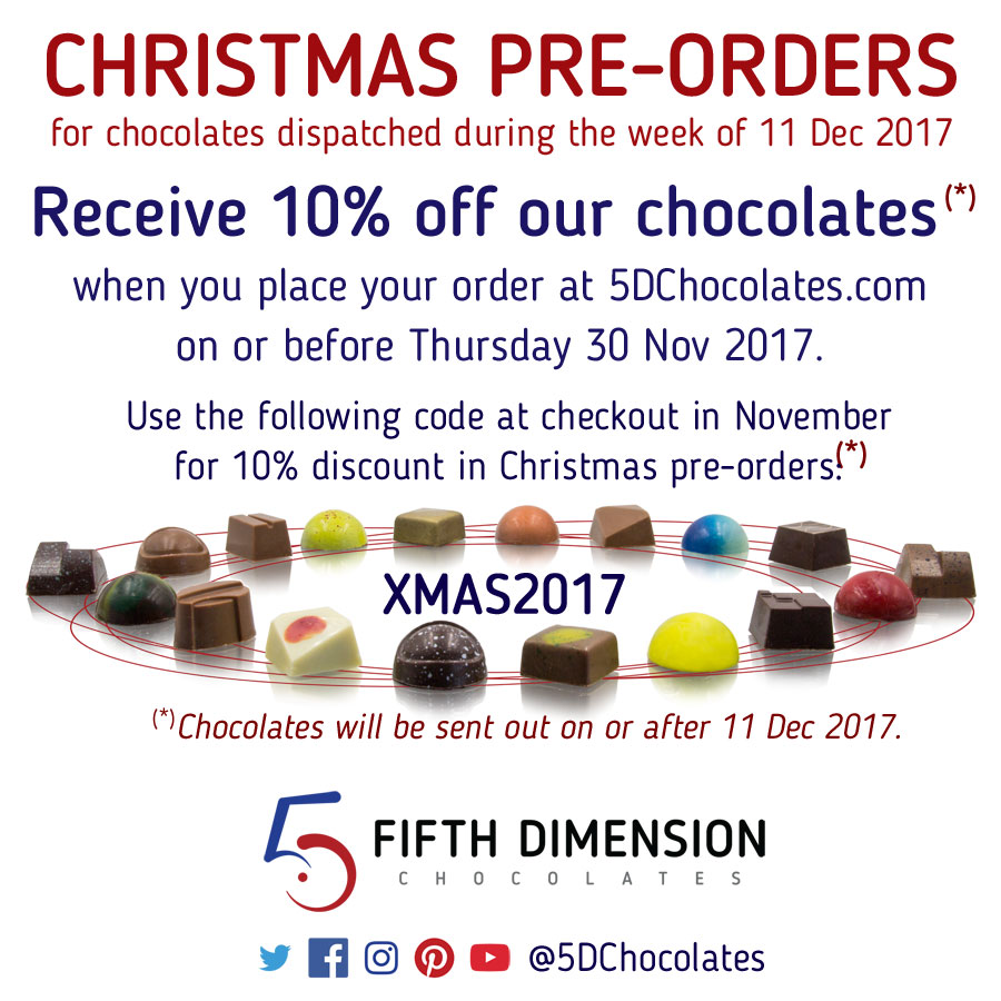Christmas Chocolate Pre-Orders