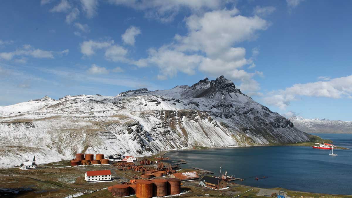 View of Grytviken from the hill behind the whaling station, and the location where our Whisky Chocolate idea was born.