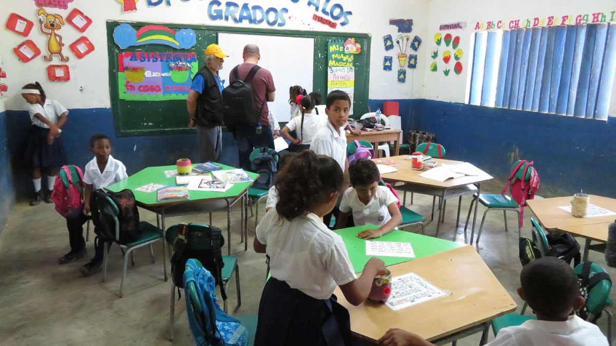One of the 2 classrooms at Limoncillo school