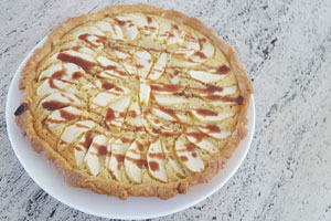 Soy Caramel Apple Fragipane Tart