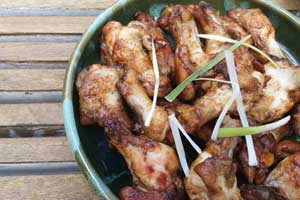 Soy Caramel Glazed Chicken Wings